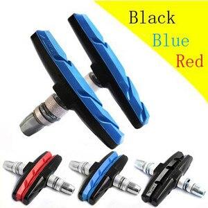 2 шт., резиновые прочные велосипедные колодки с треугольным тормозным держателем для обуви, черные складные велосипедные колодки для больши...