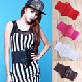 New Fashion Sexy Faux leather Women belt Black Elastic Extra Wide Corset Tie High Waist Slimming Belt 5 colors Y1