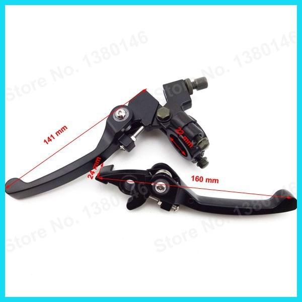 Сплав складные тормозные рычаги сцепления и ручные ручки для 50cc 110cc 125cc 140cc 150cc 160cc питбайк китайский мотоцикл