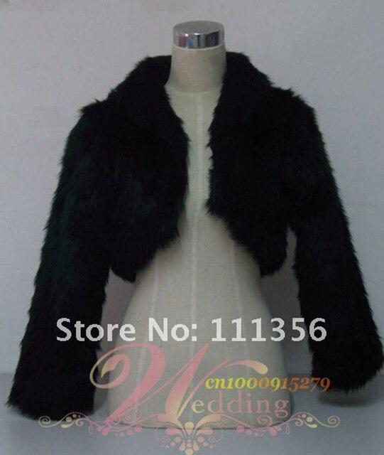 Nuptiale En Fausse Fourrure Boléro Noir Blanc Ivoire Étole de Châle Wrap Cap  De Mariage accessoires 9a6805c93e9