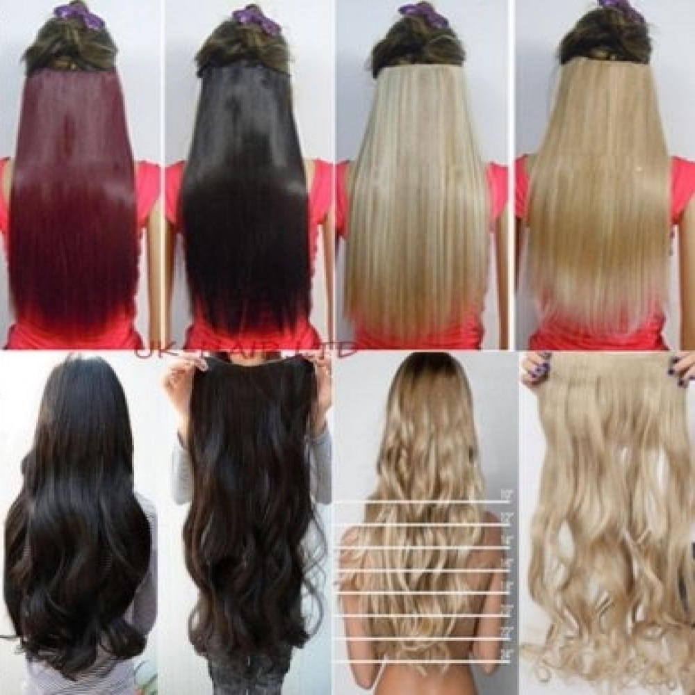 Real hair extensions clip in full head images hair extension long clip in hair extensions one piece 26 inches 66cm straight long clip in hair extensions pmusecretfo Image collections