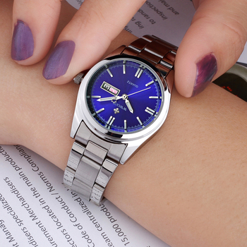 WWOOR Women's Luxury Date Silver Stainless Steel Ladies Quartz Watches 4