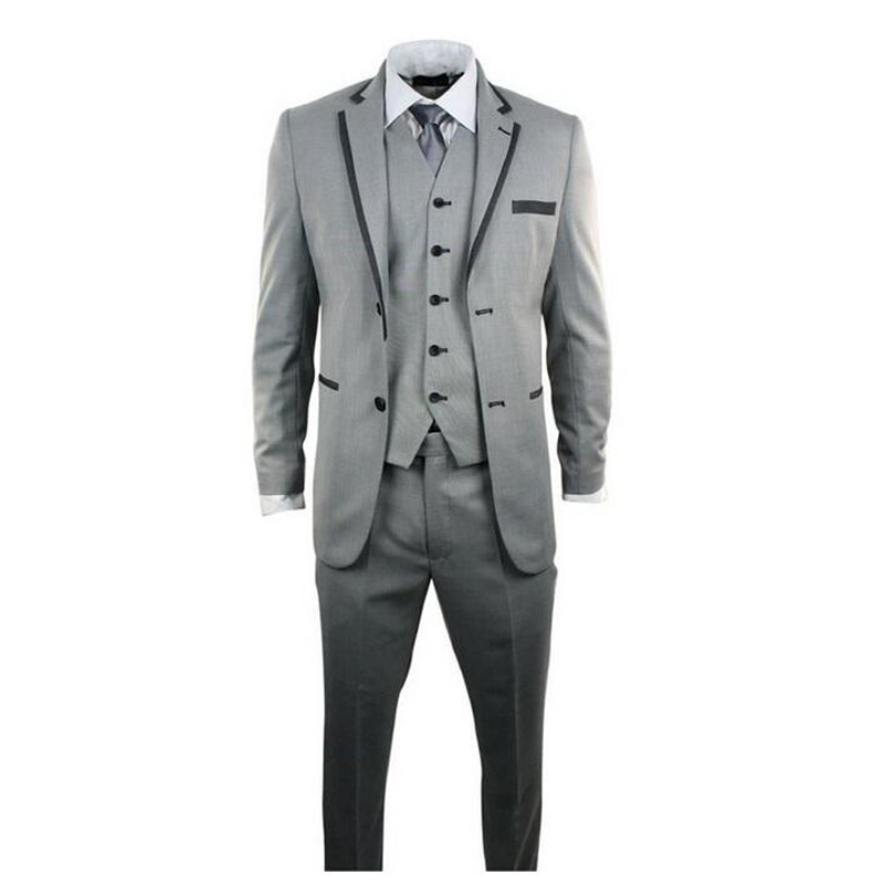 Ternos Masculino 2016 font b Custom b font font b Made b font Grey Men Slim