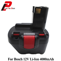 4000mAh 12V Li Ion BAT043 Rechargeable Battery: For BOSCH GSR 12 VE 2,GSB 12 VE 2,PSB 12 VE 2, BAT043 BAT045 BTA120 2607335430