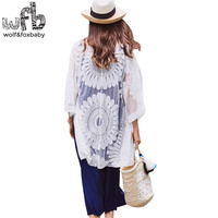 Retail Pregnant Women Shirt Large Size Half Sleeves Embroidery Sunflowers Sun Protection Clothing Summer