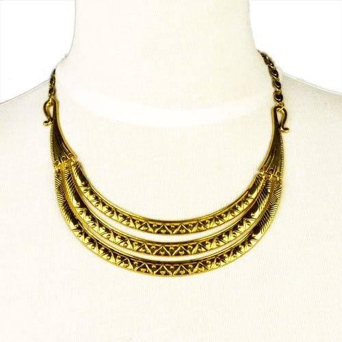 5f72e3937d73 ⊰Aoloshow moda metal chunky collar gargantilla collar del color del ...