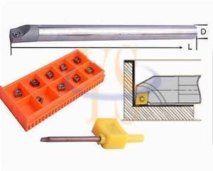 8MM solid carbide shank SCLCR06 CNC boring bar +10 CCMT060204 turning inserts|bar bar|insert cnc|insert carbide -