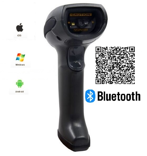 LS07B bluetooth wireless 2d /qr barcode scanner reader with bluetooth receiver, easy to connect with iphone,ipad