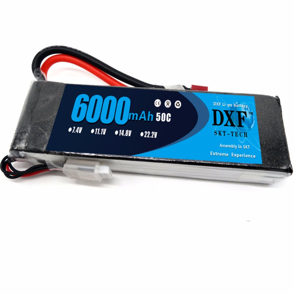 DXF Lipo Battery Pack 3S 11.1V 50C Max 100C 3S 6000mAh with T Dean Plug for RC Traxxas RC Airplane Helicopter RC Car RC Truck hot new battery 12n 1600scb 12n1600scb 12n 1600scb 14 4v 1600mah battery pack with plug
