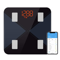 Bajotien Bluetooth Body Fat Scale, TopElek Digital Weight Scale with Backlit LED Display, Bathroom Wireless Weight Scale