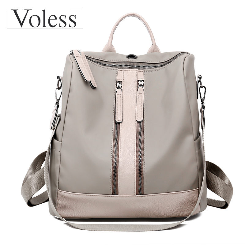 Luxury Designer Women Backpack Large Capacity Ladies Oxford Backpack Fashion Double Zipper School Bags For Teenager Girls 2018