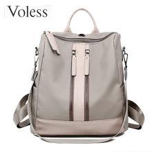 Luxus Designer Női hátizsák nagy kapacitású női Oxford hátizsák divat dupla cipzáras iskolai táskák serdülő lányok 2018