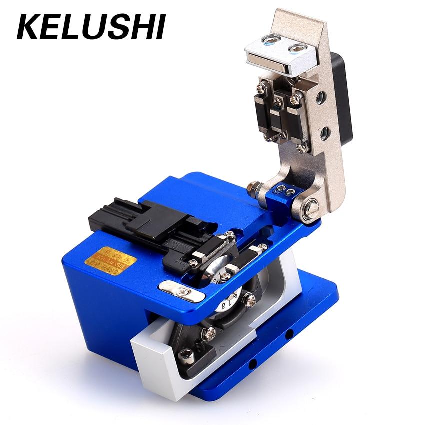 KELUSHI Fiber Optic Tool Fiber Cleaver Single Mode 125um Cutter For Fiber Optical Cold Connector Connection fiber fusion Splicer