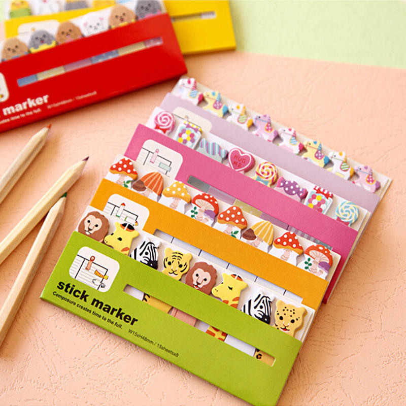 New 120 Pages hot sales Owl Sticker Post It Bookmark Point Marker Memo Notepad Sticky Notes For School