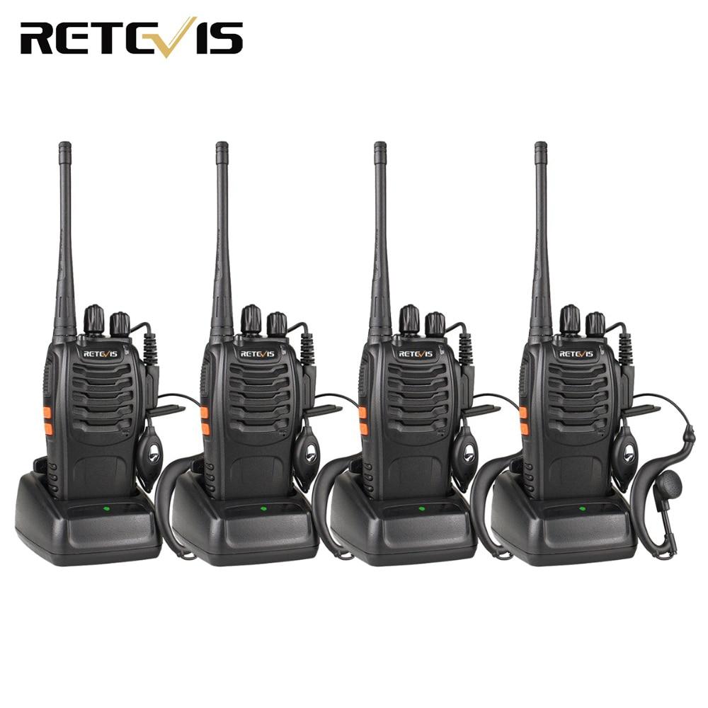 4 шт рация Retevis H777 UHF 400-470 Любительское радио МГц Hf трансивер Радио станции зарядка через usb рации