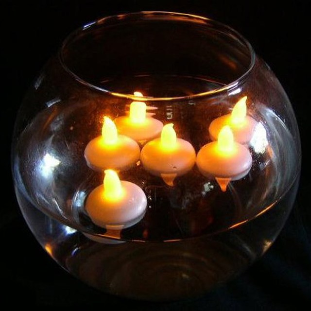 12pcs Battery Operated Waterproof Floating Flameless Led Tealight Tea Candles Light Wedding Birthday Party Christmas Home