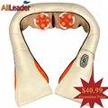 Frente E Verso Amasso Massagem Xale Vertebr Cervical Travesseiro de Massagem de Aquecimento Infravermelho Elétrico Dispositivo de Massagem Alívio Da Dor