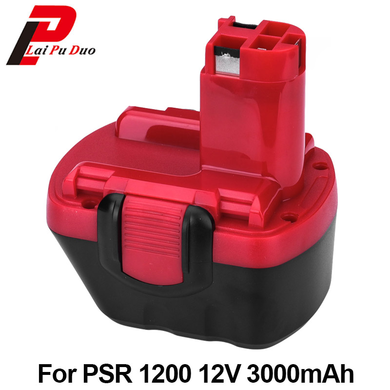 12V 3.0Ah NI-MH Rechargeable Battery For Bosch GSR 12V PSR 12V PAG 12 VE-2 BAT043 BAT045 2 607 335 709 2 607 335 697 Batteries new 24v ni mh 3 0ah replacement rechargeable power tool battery for bosch bat299 bat240 2 607 335 637 bat030 bat031 gkg24v