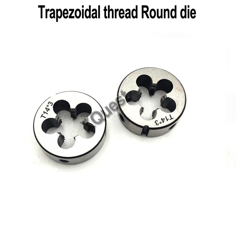 XQuest Right Hand Trapezoidal thread Round Die Tr8 Tr10 Tr12 Tr14 Tr16 left Hand Trapezoid dies Tr18 Tr22 Tr24 Tr25 Tr26|Tap & Die| |  - title=