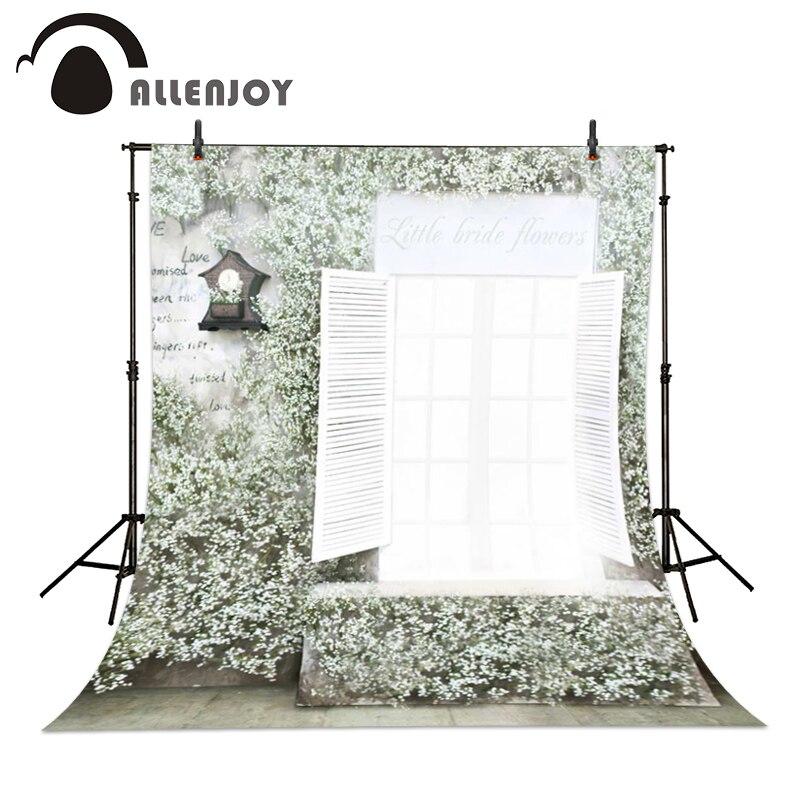 Allenjoy 6.5ft*10ft wedding Photo Background window white flower Photography backdrops Background Studio baby Photos custom size  недорого