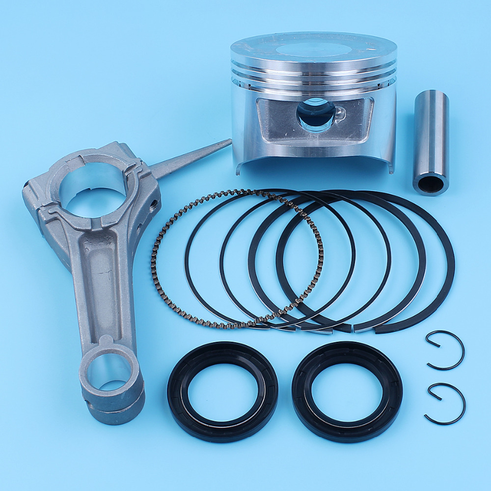 88mm Piston Kit Connecting Rod Crank Seal For Honda GX390 13HP 188F 190F Generator Engine Motor #13101-ZF6-W00 piston set 88mm kit for 4 stroke gx390 188f 13hp gasoline engine free shipping kolben with rings wrist pin