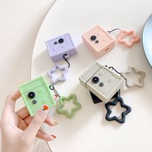 Cute Cartoon Earphone Case for Airpods 2 Cover Soft Silicone With Ring Strap 3D strongbox design