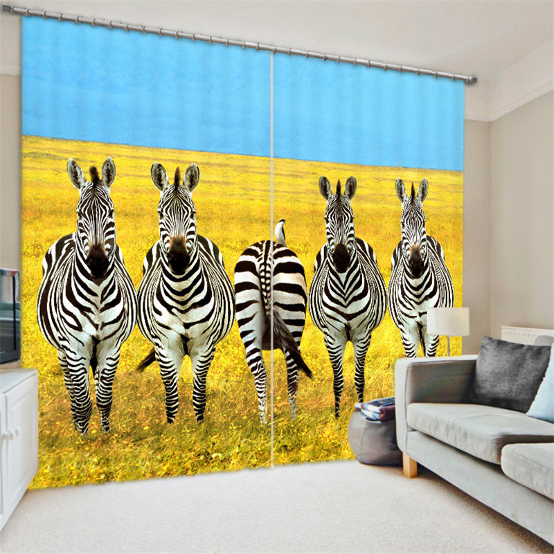 Black white zebra 3D Blackout Window Curtains For Living room Bedding room Home Decor Tapestry Wall Carpet Drapes CotinasBlack white zebra 3D Blackout Window Curtains For Living room Bedding room Home Decor Tapestry Wall Carpet Drapes Cotinas
