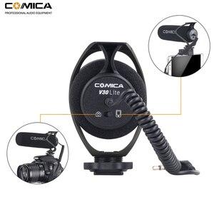 Image 2 - Comica CVM V30 Lite On Camera Microphone, Phone Video Recording Mic for Canon Nikon Sony Fuji DSLR Cameras,Smartphone Microphone