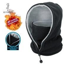 RITOPER Winter Fleece Balaclava Men Women Beanie Warm Thicken Hat Scarf Neck Sport Mask Outdoor Skiing Cycling Hiking Skullies