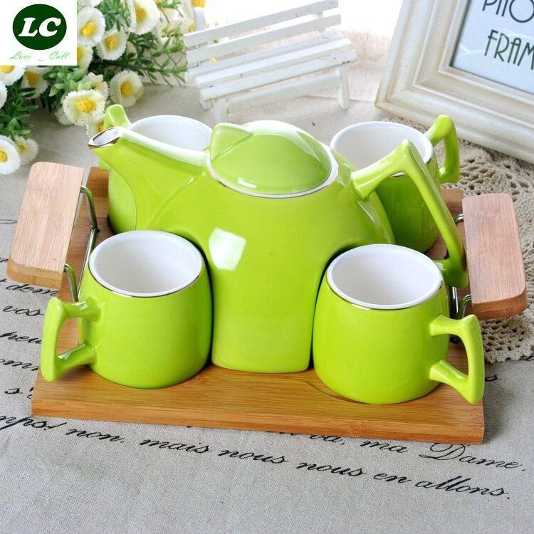 Набор для кофе и чая бутылки для воды Европейский керамический чайник для холодной воды креативный домашний фарфоровый чайник