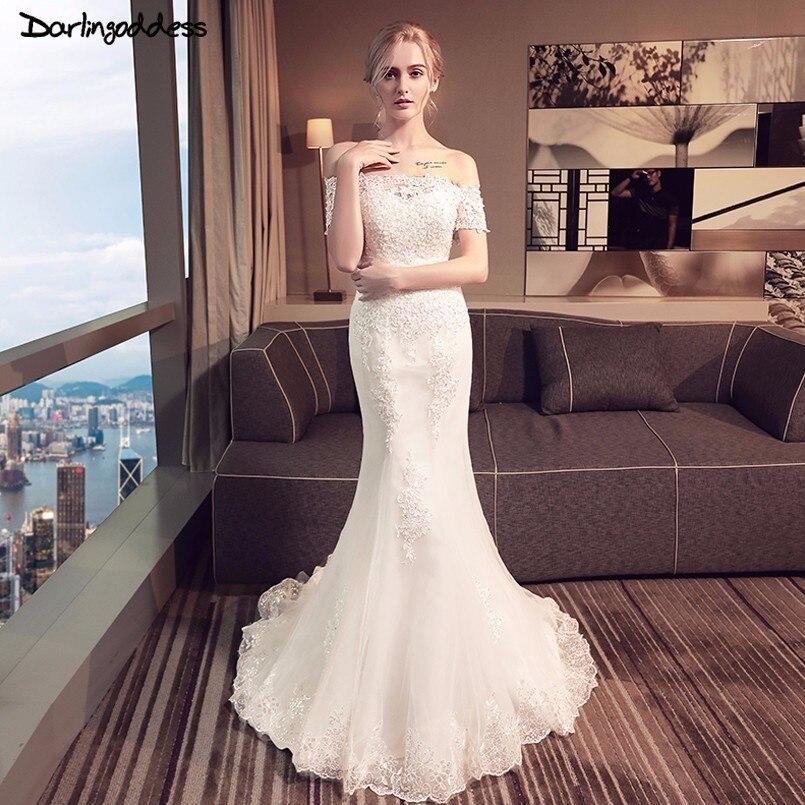 Promo Vestidos De Novia 2018 Elegant Lace Mermaid Wedding Dresses