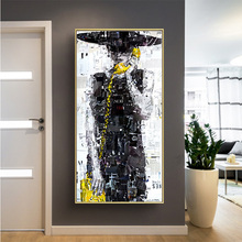 Nordic style Cuadros Wall Art picture Romantic Canvas Prints Painting Abstract Calling Girl for Girls Bedroom Livingroom Noframe