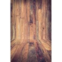 Seamless Vinyl Photography Backdrop Vintage Brown Wooden Floor Computer Printed Children Background For Photo Studio F