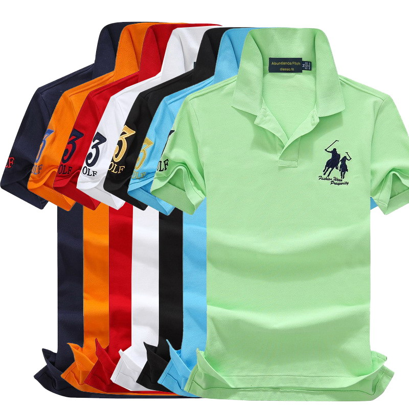 2019 Summer 100% Mesh Import Pique Cotton Big Horse Men 3 Embroidery Logo Polo Shirts Fashion Brand Polo Shirts 8026 Always Buy Good Men's Clothing Tops & Tees