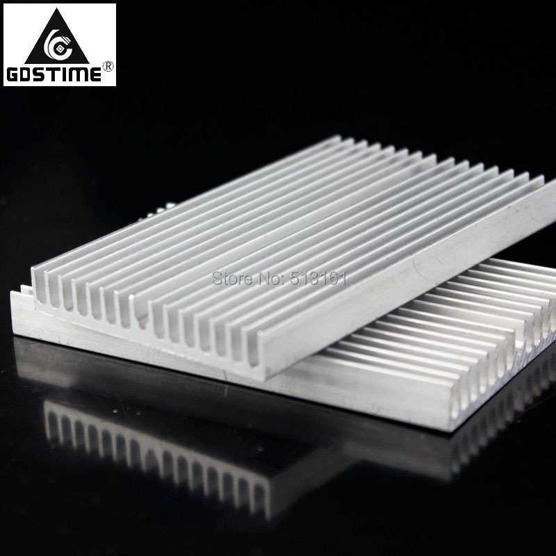 Купить с кэшбэком 5PCS Gdstime 100x60x10mm Aluminium Cooler Radiator Heatsink Heat Sink 100mm