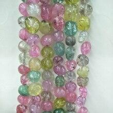 Природный красочный турмалин камень Бусины для ювелирных изделий Цепочки и ожерелья 12-16 мм случайный Форма Свободные Кристалл Кварцевый камень Бусины DIY Craft
