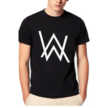 New Fashion Music DJ Divine Comedy Alan Walker Print T-Shirt Men Hip Hop short sleeve Cotton Casual