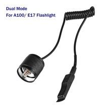 듀얼 모드 원격 제어 압력 스위치 A100 손전등 꼬리 스위치 Tailcap 전술 스위치 E17 LED 손전등 토치