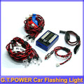 G.T.POWER Ultra Bright 12 LED Flashing Light System For R/c RC Car Remote Control Evader EXT2 Makita +free shipping