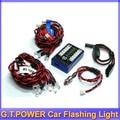 G. T. POWER Ultra Bright 12 LED Piscando Light System Para R/c RC Car Controle Remoto Evader EXT2 Makita + frete grátis