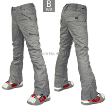 2016 gsou snow womens gray ski pants female grey snowboarding sking riding cycling climbing snow pants waterproof top quality