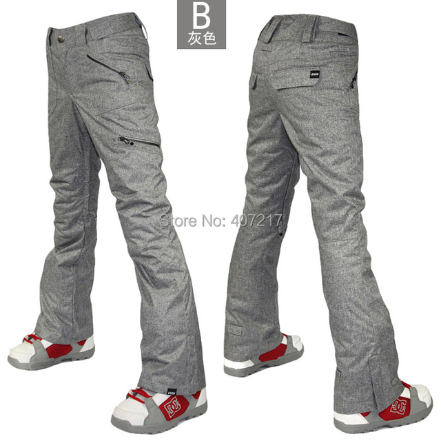 2016 gsou snow womens gray ski pants female grey snowboarding sking riding  cycling climbing snow pants waterproof top quality e132be42cf