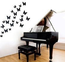 FoodyMine 12 Шт. ПВХ 3D Замечательное Искусство Бабочка Дизайн Стены Наклейки Наклейки Home Decor Плакат для Помещений, свадебные Украшения стен