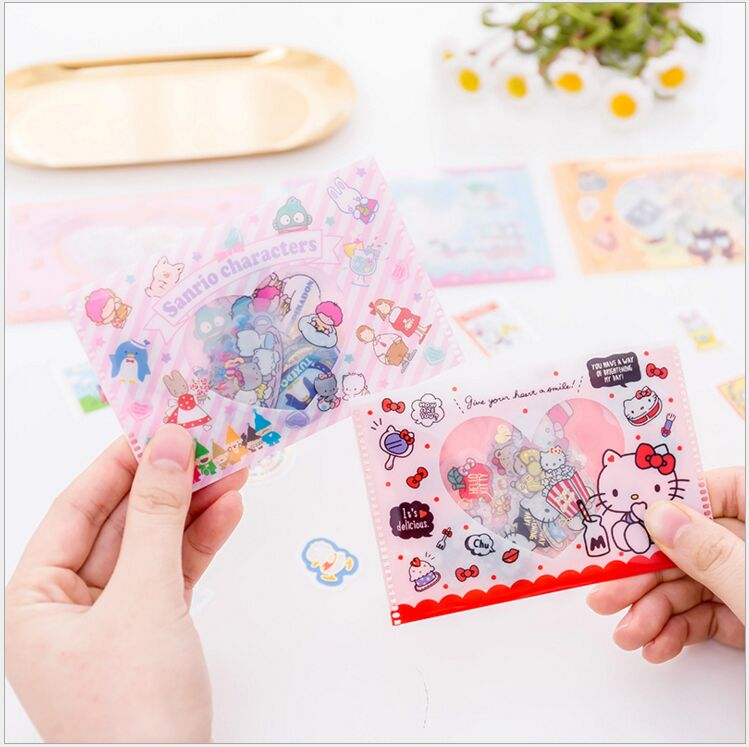 Lovely My Melody Kitty Little Twin Stars Cinnamoroll Pudding Dog PVC Sticker Decoration Planner Diary Phone Album Index Stickers
