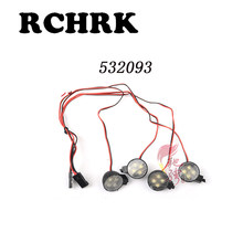 4pcs 532093 led Headlights/off-road lights white headlights Suitable for RC car 1/10 FS Skeleton suv desert card accessories(China)
