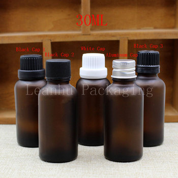 30ML Brown Frosted Glass Bottle, 30CC Essential Oil/Toner Packaging Bottle, Empty Cosmetic Container (30 PC/Lot)