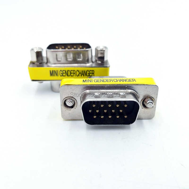 DB9/DB15 MINI Gender Changer adapter RS232 Com D-Sub to Male VGA  on