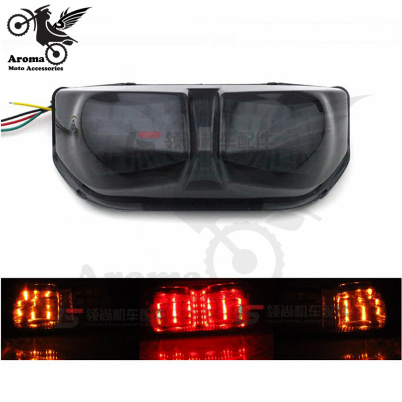 professional Modified scooter accessories brand flasher rear motorcycle tail light for yamaha FZ8 FZ1 LED motorbike brake light