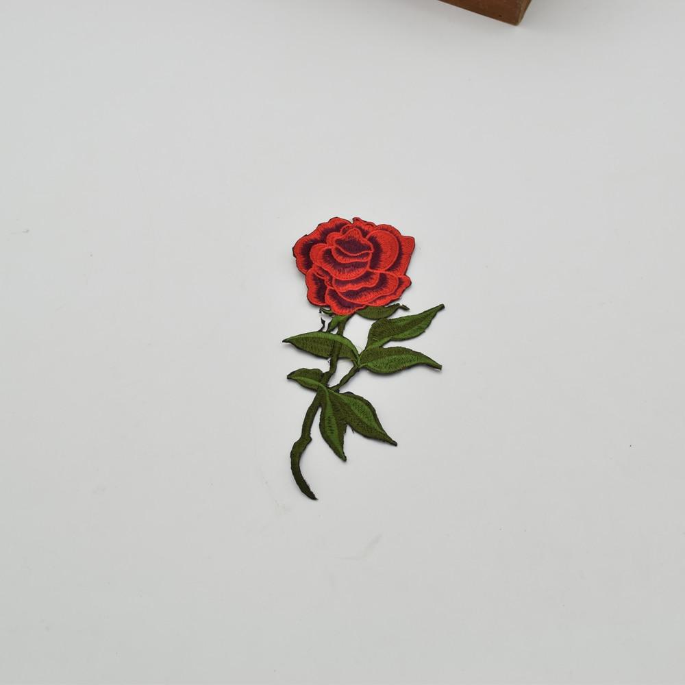10 piezas moda bordado flor roja parche hierro en apliques coser - Artes, artesanía y costura - foto 4