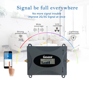 Image 5 - Lintratek GSM Repeater Voice Amplifier 900Mhz 2G Signal Booster Full Kit GSM 900 Cellphone Booster Yagi Antenna+10M Cable